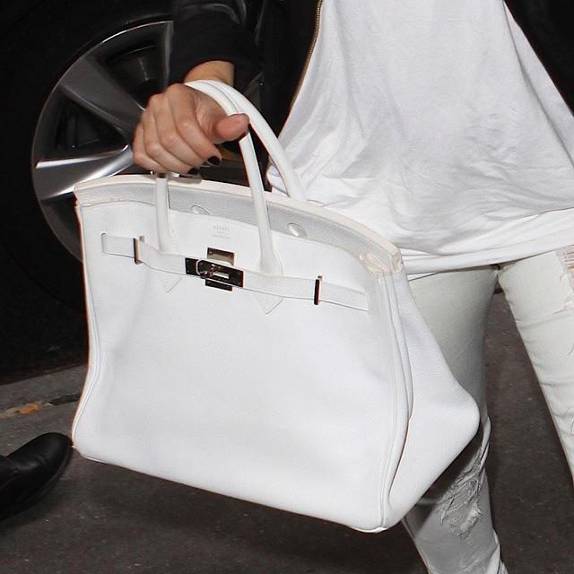 That bag cray! White Birkin Bag.