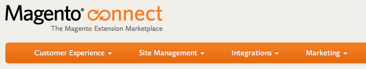 "Just launched an update to the Magento Connect menu. The previous navigation loaded the big ""suckerfish"" full width drop down immediately. In practice, the navigation was obscuring the content. The solution we came up with was to have the menu load only when a user ""dwelled"" on a top level menu. Only then does the sub-menu load. Started with a 1.3 sec delay, now dropping it to 0.75 sec."