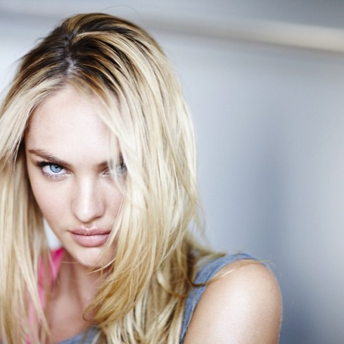 Candice Swanepoel, a quick portrait showing how gorgeous she is. Photo by Russell James (via Instagram)