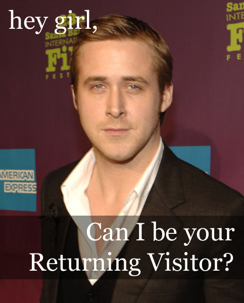 Hey girl, can I be your returning visitor? http://www.kaushik.net/avinash/dear-avinash-bounces-optimal-abandonment-ratios-data-drops/