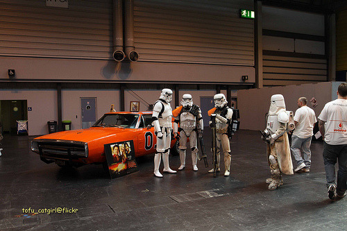 """Those Duke boys sure got themselves in a heap of trouble this time.""  Photo from Birmingham Comic Con by Tofu Catgirl"