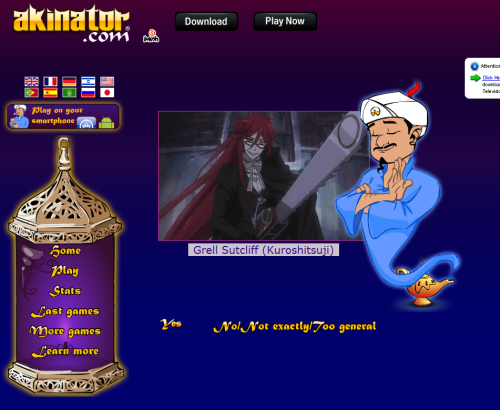 aximarker:  AKINATOR WON'T STOP GETTING MY GUSSES RIGHT.
