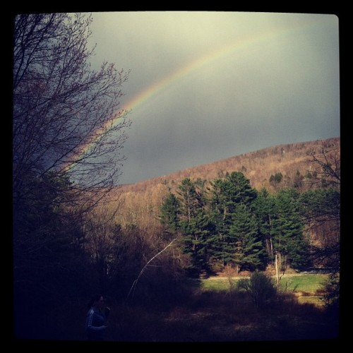 Beautiful rainbow over set! (Taken with instagram)