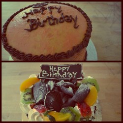 My birthday cakes :) #love #cake #birthday #17 #girl #baking #sliimbu #photography #yolo #buttercream  (Taken with instagram)