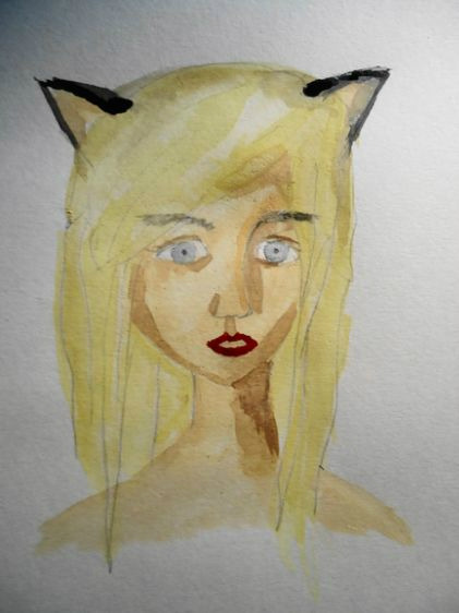 Allicat, I just finished painting.