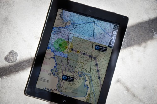 iPad app aggregates sonic data from acoustic buoys to determine whale locations, transmits locations to nearby vessels, allowing them to avoid colliding with endangered whales.