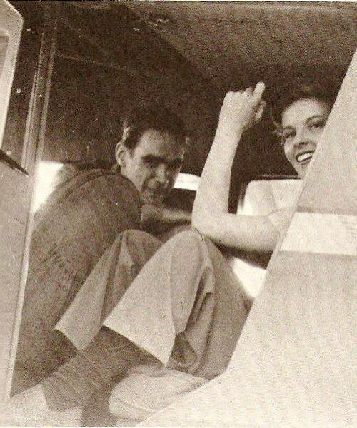 A rare picture of Howard Hughes and Katharine Hepburn in Howard's airplane.