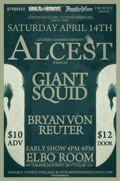 Holy crap, ALCEST! Last minute show, that happens very early in the evening.