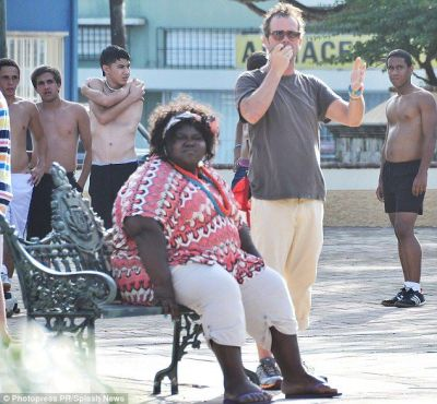 Gabourey Sidibe on the set of her new film in Puerto Rico [privately; I know ya'll are about to go in on her…be gentle]