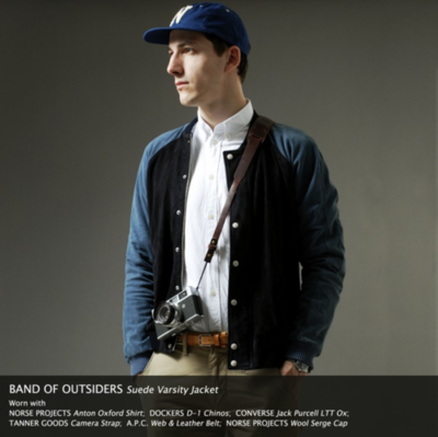 Band of Outsiders - Suede Varsity Jacket