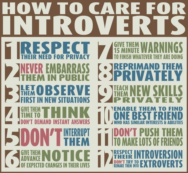 kay-loray:  1 3 6 10 11 12   How to care for introverts…