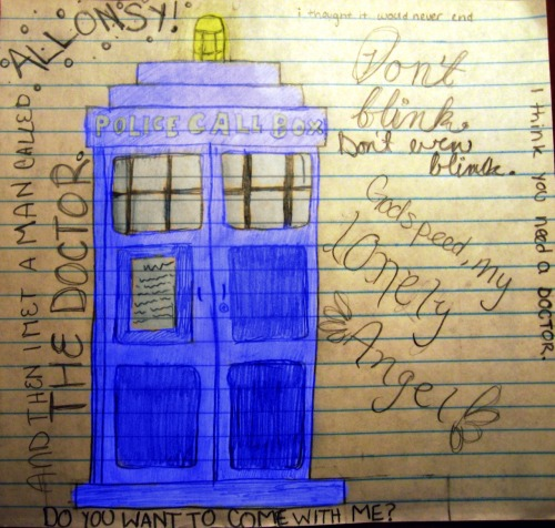 I've been on quite a Doctor Who kick, lately ^-^ (Sorry for the inaccuracies on the TARDIS :P)