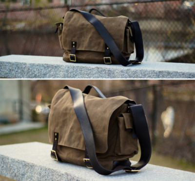 Additional shots of the Ernest Alexander - Hudson Wax Messenger Bag
