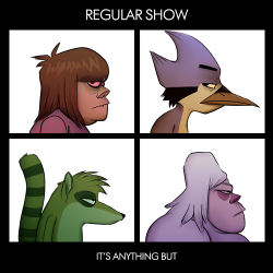 alternart:  Regular Show + Gorrilaz by adriofthedead (Wanted name to be Anonymous, but that's the blog)