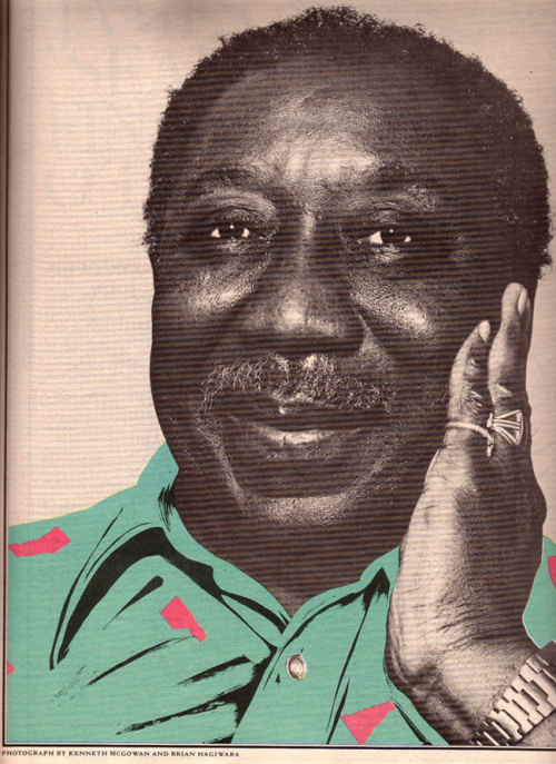 crispytendernothing:  Muddy Waters, born this day on 1913, 99 years ago. The father of the Chicago Blues, a big, big man. THE Rolling Stone. ♥