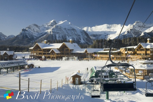 This is a beautiful photo of the Lake Louise Ski Hill. After all the snow we just got here in the Bow Valley, I think this is where everyone wants to be! Photo by Lee Simmons http://www.banffphotography.com