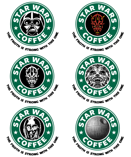 Star Wars Coffee - by Royal Bros Art T-Shirts, Stickers & iPhone Cases available on RedBubble Artist: || Facebook ||Twitter || Tumblr || Othertees || Qwertee ||