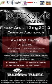 WHBC PRESENTS ROCKSTAR AWARDS HUGE SPONSORS AND A GREAT LINE UP. HOWARD UNIVERSITY CRAMTON AUDITORIUM 7PM BE THERE! ITS FREEEE TOOO PICK UP YOUR TICKETS AT CRAMTON TODAY !!
