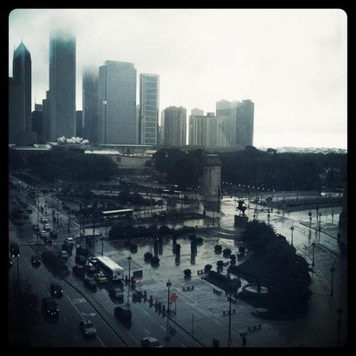 The view from class on South Michigan Ave, Chicago, IL, 2011
