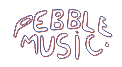 Logo variation for Pebble Music©
