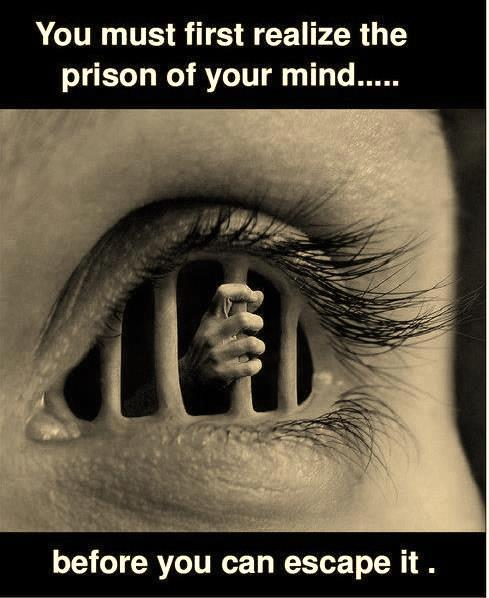 "asoulman:  ""You must first realise the prison of your mind…"" v: thezengarden"