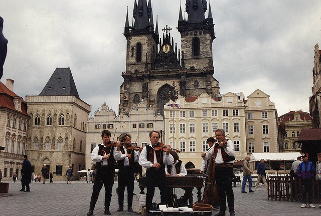 | ♕ |  Old-World musicians in Prague  | by © earthmagnified