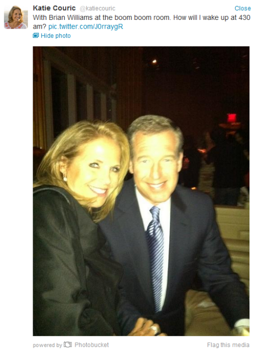 fatmanatee:  Brian Williams is at the boom boom room.  This brings me so much joy.