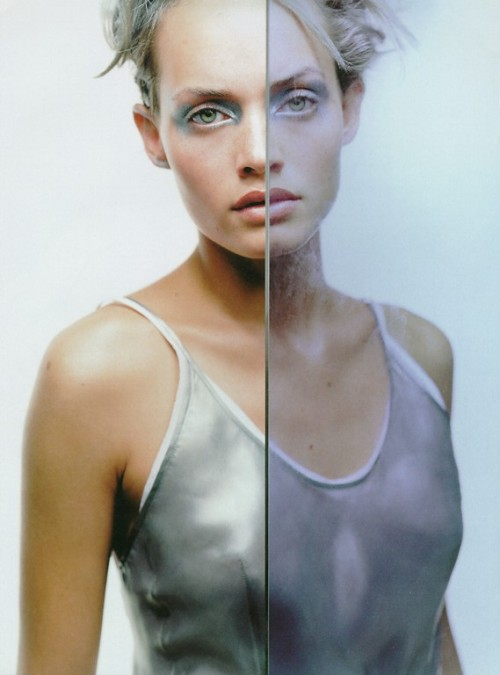 """La Couleur de L'argent"": Amber Valletta photographed by Craig McDean for Glamour France, September 1993"