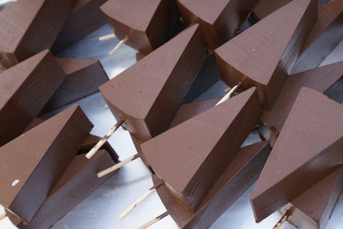 okagami:  cuteys:  c-lassic:  chocolate-covered cheesecake on a stick WHERE HAVE YOU BEEN ALL MY LIFE  OH MY FUCKING GOD  Mmmmmmm painted wooden triangles on a stick
