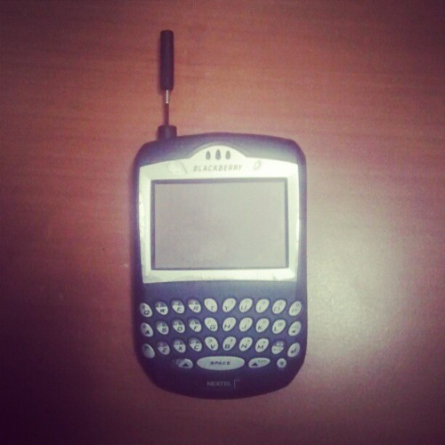 Crackberry #RIM #blackberry #Nextel  (Taken with instagram)