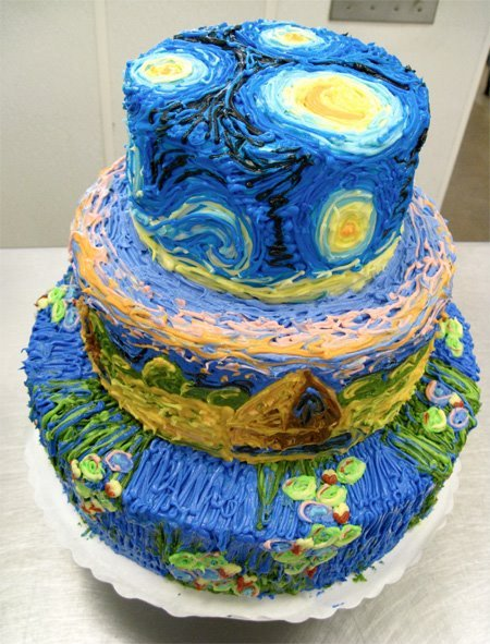 Starry Night cake!