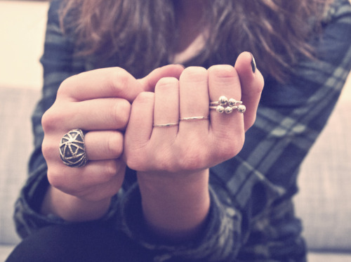 Linny wearing rings that I made. Check them out in my online store!