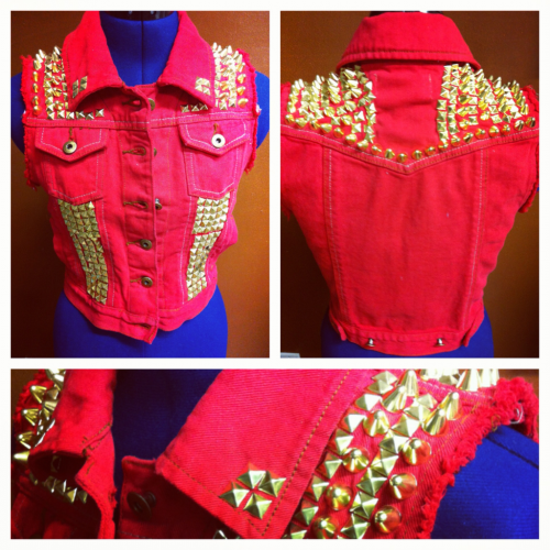 Bondij one of a kind studded vest!!