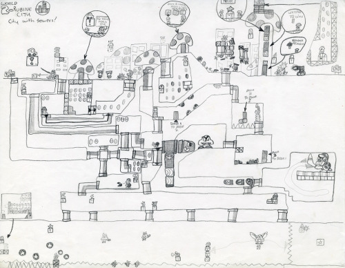 super mario level design i drew when i was a kid - probably around 1990?  i have like a ton of this stuff, but it's not really interesting enough to scan a bunch.