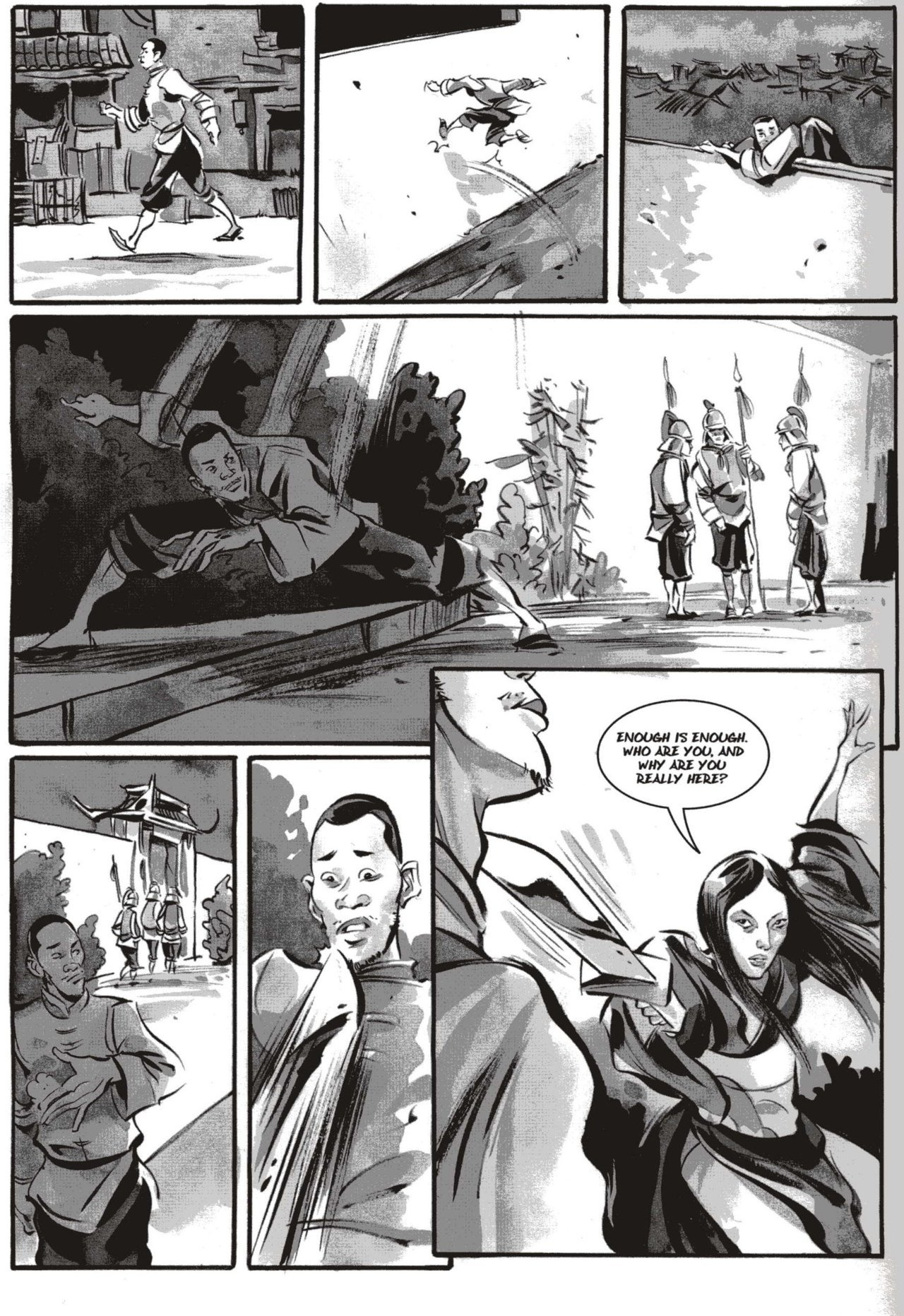 Windy confronts Yang in Kagan McLeod's Infinite Kung Fu. One of the panels from this was used in Comics Editor Carol's piece on IKF. Read a preview of IKF here.