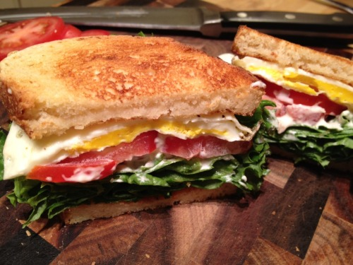 Dinner is a Fried Egg Sandwich!