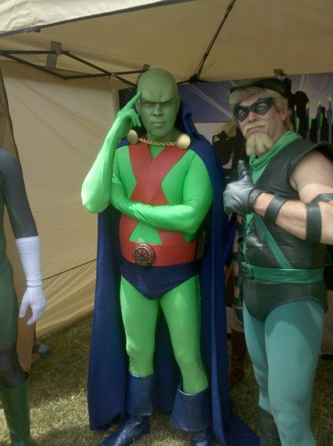 Green Arrow and The Martian Manhunter by Brian Parsley and Brin Londo @ The League of Heroes costuming forum.