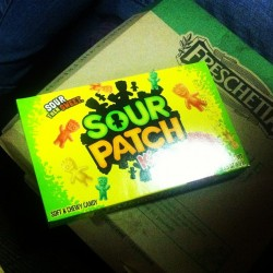 Can't watch a #movie without #sourpatchkids #candy 😜😝 (Taken with instagram)