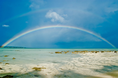 llbwwb:  Havelock Beach double Rainbow. Andaman and Nicobar Islands, India (by green.pit)