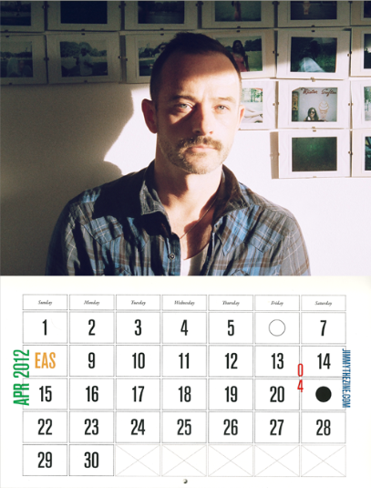 APRIL Jimmy the Zine Calendar shot by KENNlLaw © Kenn Law