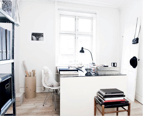 white and neat workspace