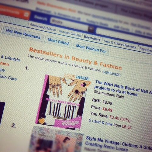 sharmadeanreid:  Um…my book is No1 on Amazon Beauty and Fashion! (Taken with instagram)  Hurrah!