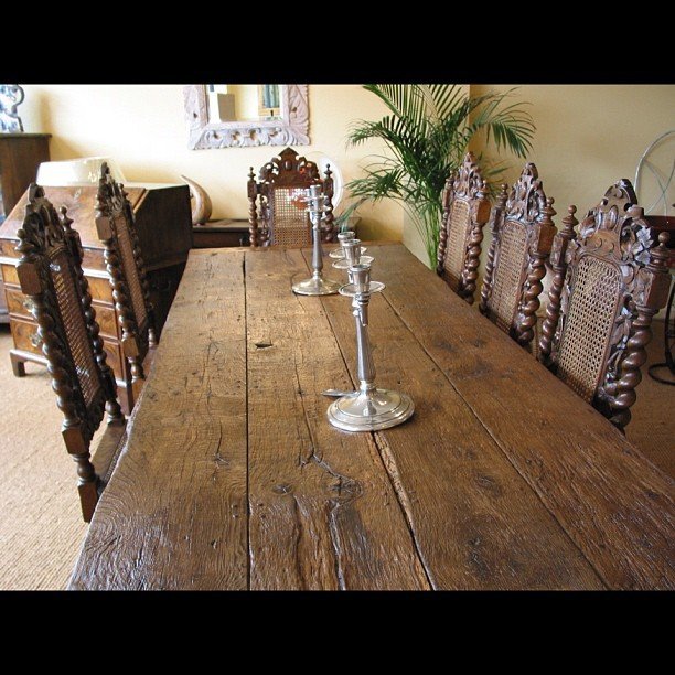 A reclaimed oak refectory table. Handmade in our workshop in Sussex. (Taken with instagram)