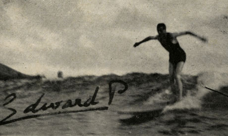 Photograph: Museum of British Surfing His Royal Hawaiiness? King Edward VIII, then the Prince of Wales, rides a wave off Waikiki beach in Hawaii in 1920, in what is believed to be the earliest picture of a British surfer - royal or otherwise.  This amazing photo is part of a gallery marking the opening of the Museum of British Surfing in North Devon. Our travel team is on the look out for more great vintage or historic surfing pictures - here's how you can share yours.