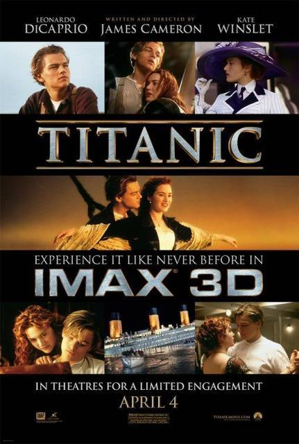 TITANIC 3D (via Galleria dei poster di 'Titanic 3D' @ ScreenWEEK)