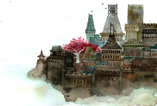 nokkasili:  I tried to paint Winterfell the way I imagined it but then ran out of patience :(