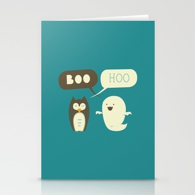 Yay cards! (via Boo Hoo Stationery Cards by AGRIMONY // Aaron Thong | Society6)