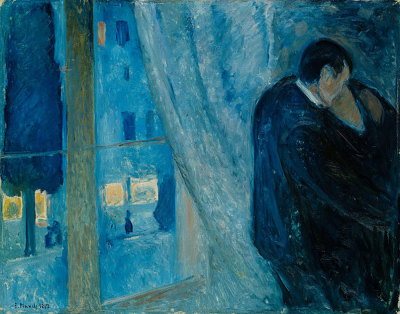 colourthysoul:  Edvard Munch - Kiss by the window (1892)