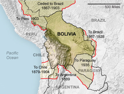 themorningnews:  Over approximately 200 years of independence, Bolivia has lost about half its original territory. How Bolivia lost its hat.