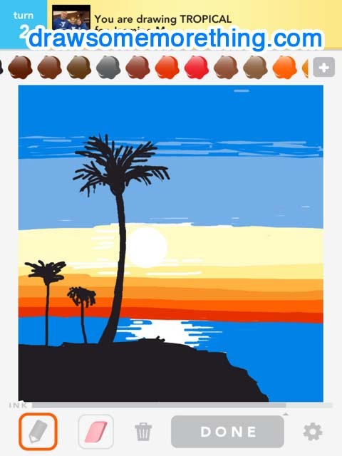 TROPICAL- http://drawsomemorething.com Source - Anonymous #drawsomething
